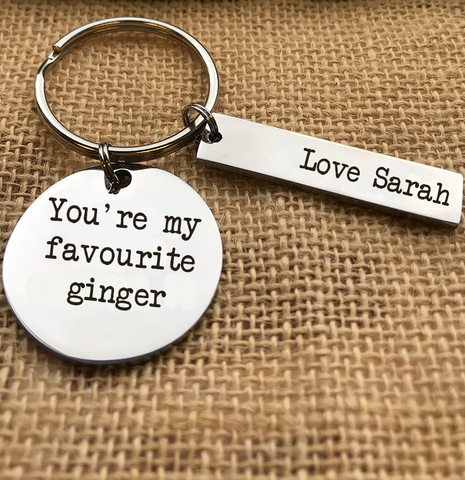 YOU'RE MY FAVOURITE GINGER KEYRING