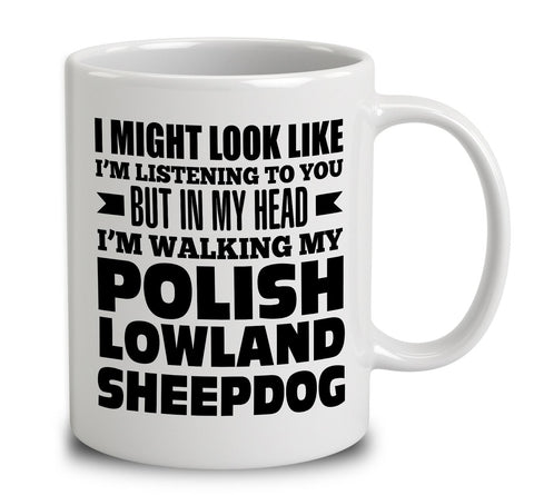 In My Head I'm Walking My Polish Lowland Sheepdog