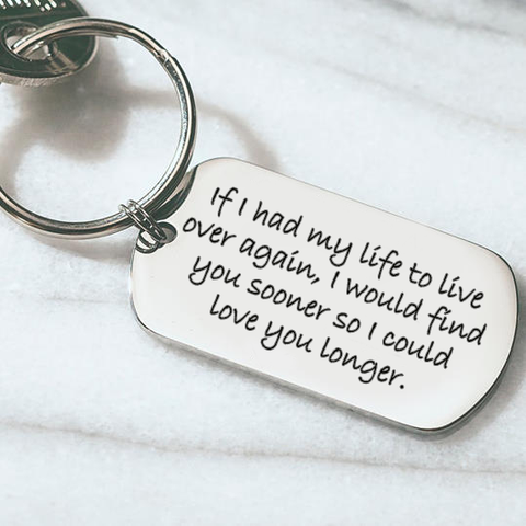 I would love you longer keyring