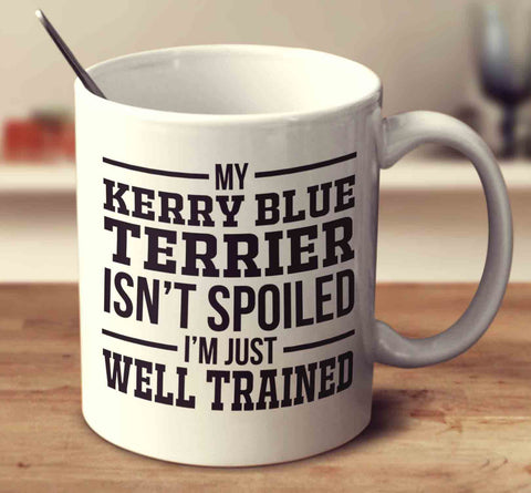 My Kerry Blue Terrier Isn't Spoiled I'm Just Well Trained