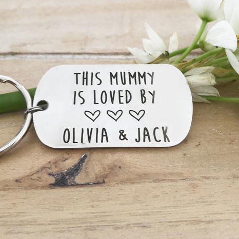 Mummy Is Loved By Custom Keyring