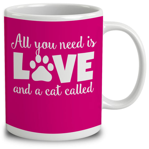 Personalised All You Need Is Love And A Cat