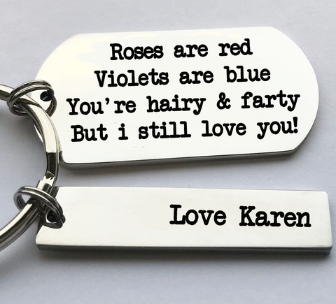 Hairy And Farty Keyring
