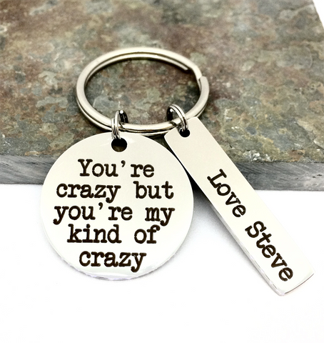 Personalised My Kind Of Crazy Keyring