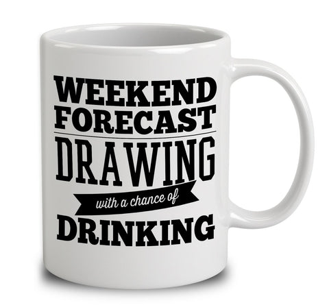 Weekend Forecast Drawing With A Chance Of Drinking