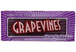 Grapevines Purple Grape Twists American Candy - 141g Pack