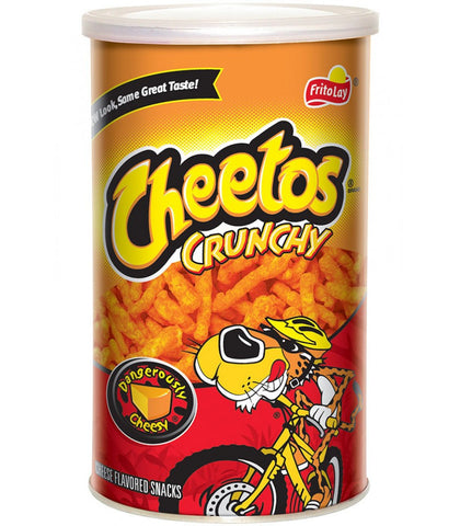 Cheetos Crunchy Real Cheese Crisps Canister - 120g
