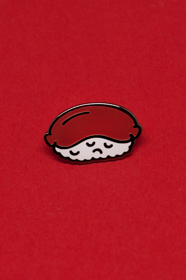 Sad Sushi Enamel Pin