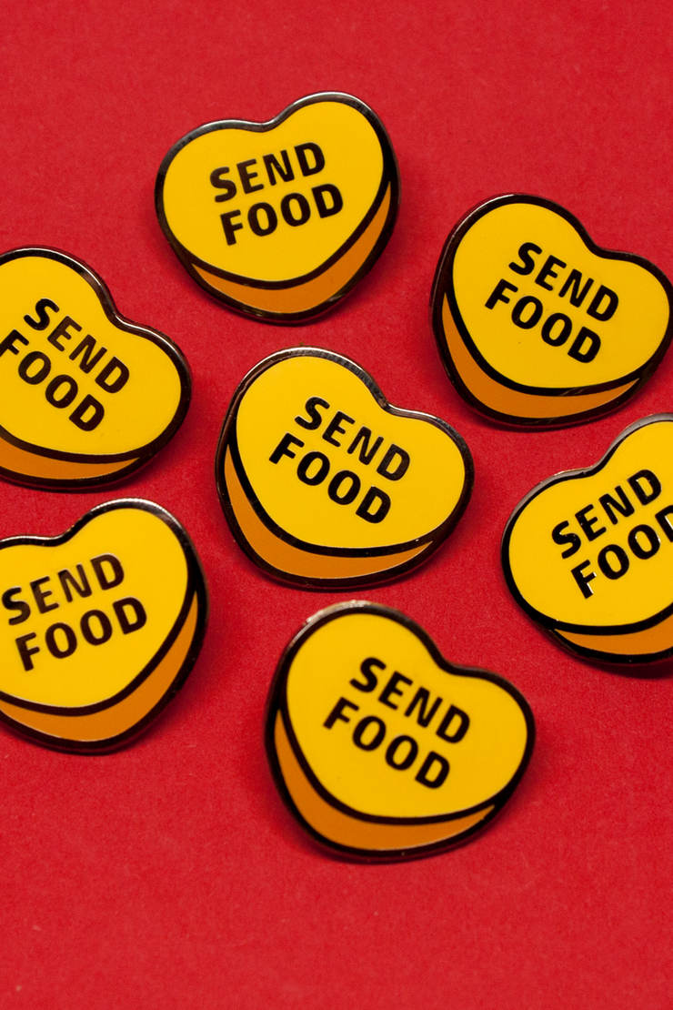 Send Food Enamel Pin