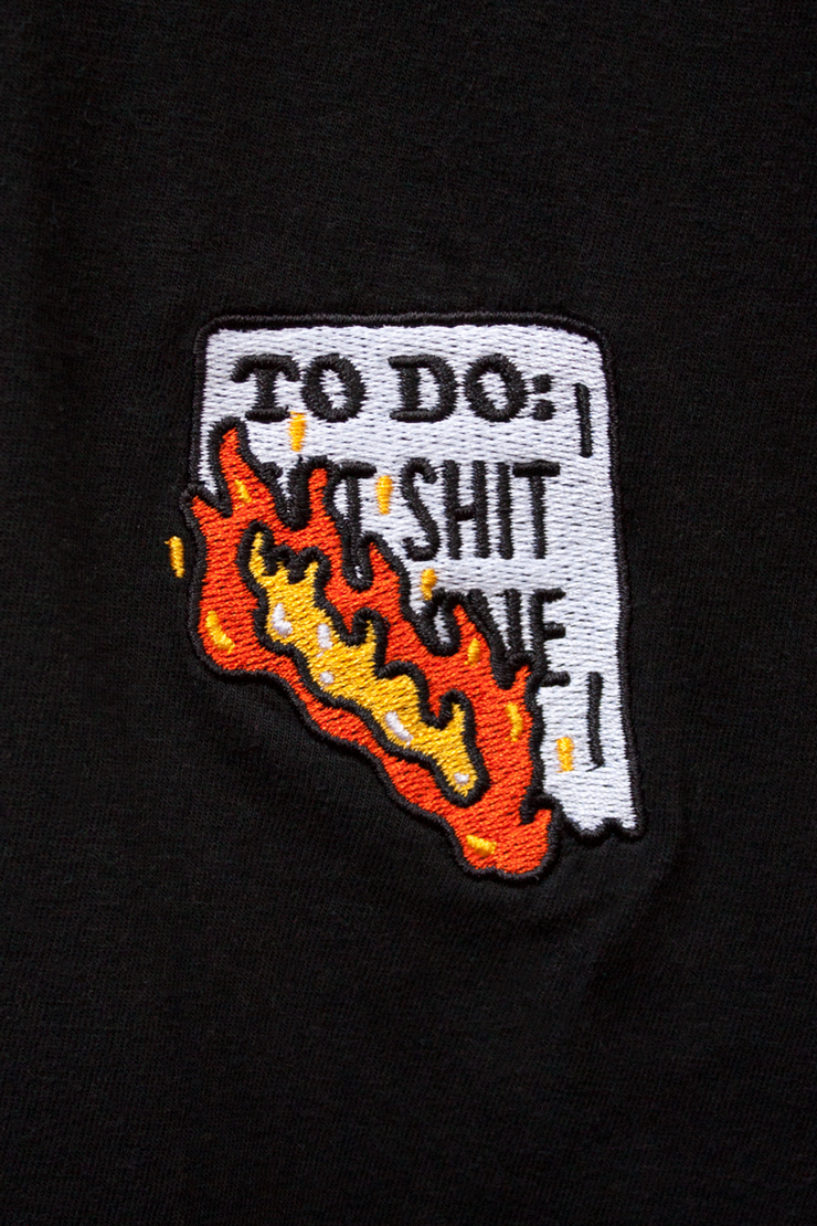 I'm Done Embroidered T-Shirt