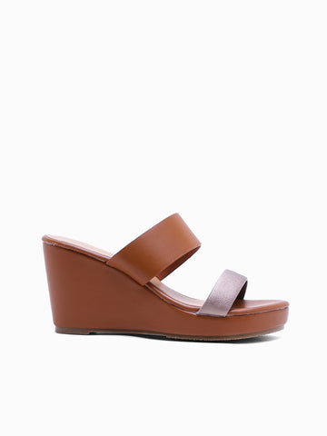 Flora Wedge Slides