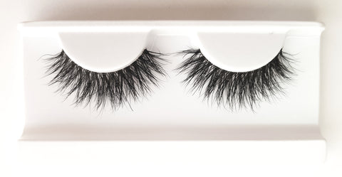 Mink Strip Lashes Type 33 3D Clear Band