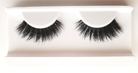 Mink Strip Lashes Type 34 3D Clear Band