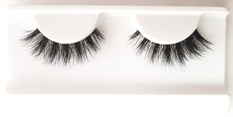 Mink Strip Lashes Type 35 3D Clear Band