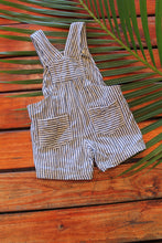 Striped Denim Shortalls