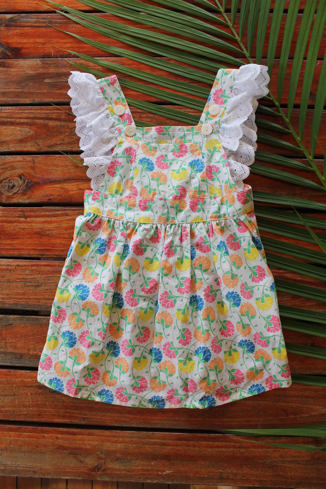 We Love Lace Pinafore Dress - Floral