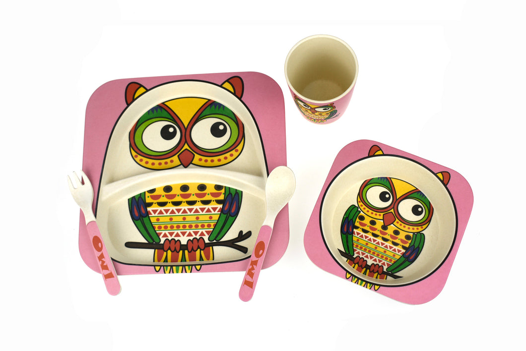 Eco-Friendly Kids Dinnerware- Owl