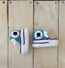 "Crochet Baby Booties- ""YOU TEAL MY HEART"""