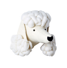 FELT ANIMAL HEAD POODLE DOG