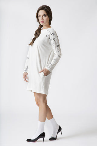 PATCHED SLEEVE TUNIC