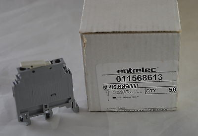 Lot of 100 - 011568613 ABB Terminal Block Entrelec 10A, ISOLATED 115 686 13