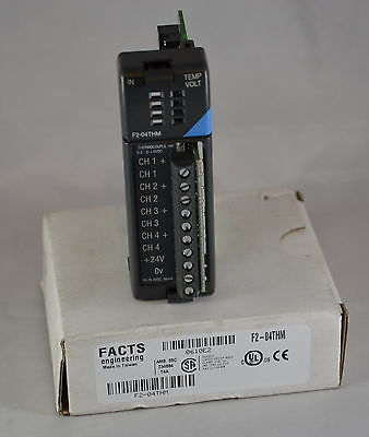 F2-04THM Facts F2 04THM Thermocouple Input Module 4x In 16-bit resolution