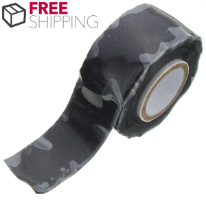 Fusion Tape 25mm Wide 3Meters - Black Self Fusing Silicone Tape Emergency Rescue Repair Tape