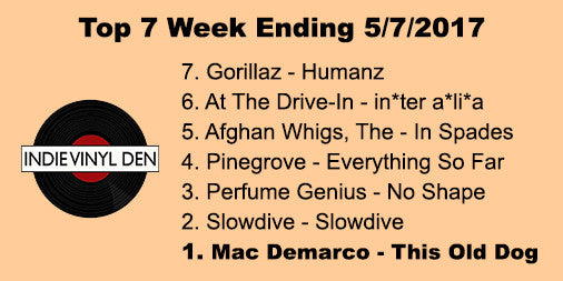 Top 7 Vinyl Records Sold for Week ending 5/7/2017