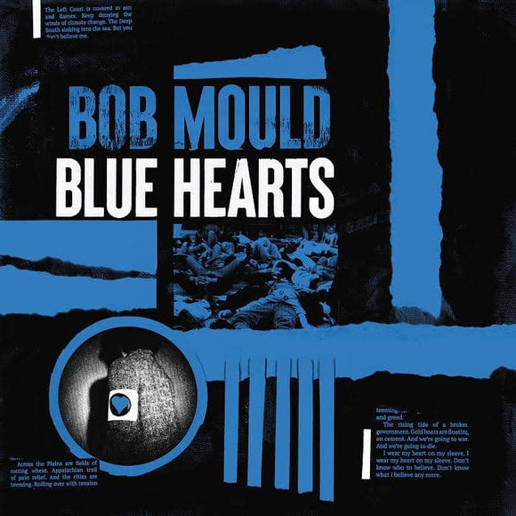 Bob Mould - Blue Hearts [Limited Peak Edition white, black, blue 3-color stripes color vinyl ]  (5268539375773)