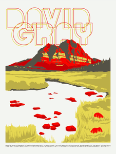 DAVID GRAY - 2014 Salt Lake City Gig Poster  (5267183861917)