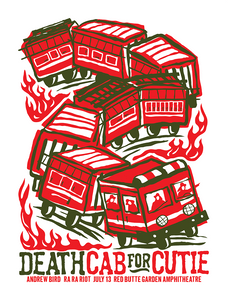 DEATH CAB FOR CUTIE 2009 Gig Poster  (1369104056379)