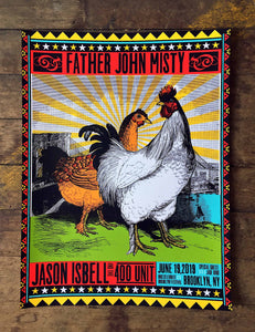 Jason Isbell / Father John Misty Brooklyn 2019 Gig Poster  (2296757157947)