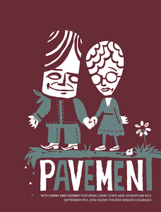 PAVEMENT Denver, CO 2010 Gig Poster  (90574979086)