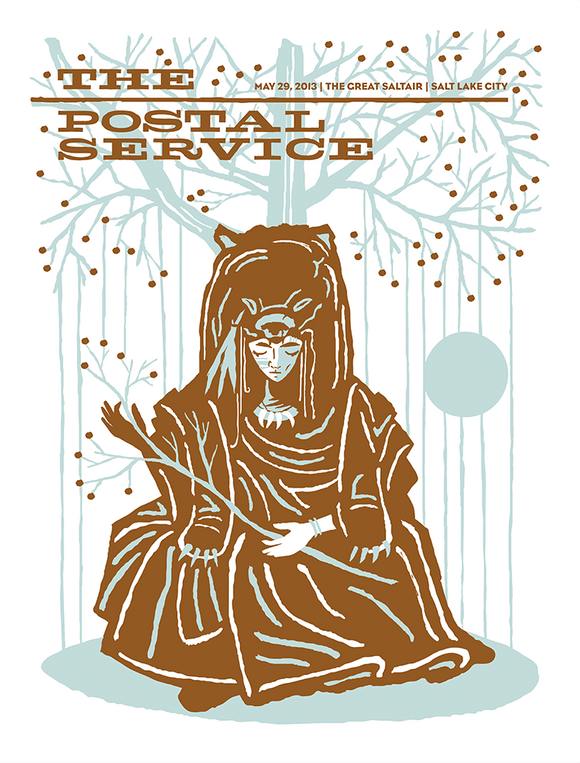 POSTAL SERVICE Salt Lake City 2013 Gig Poster  (90534379534)