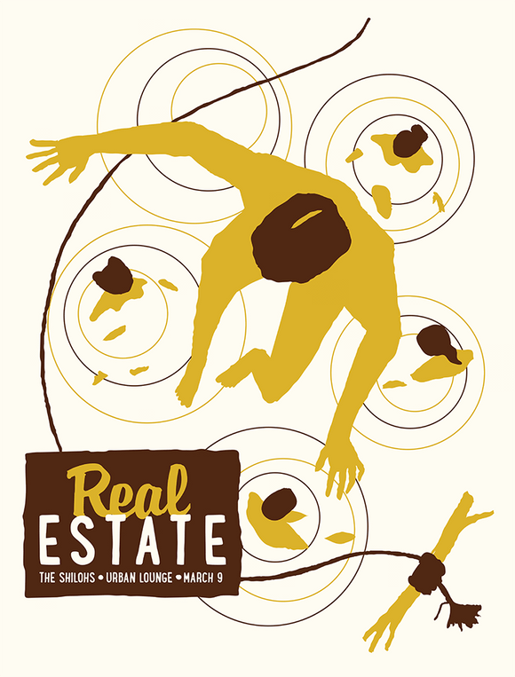 REAL ESTATE 2014 Gig Poster  (2254798913595)