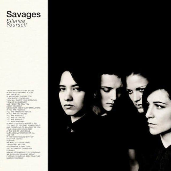 Savages-Silence Yourself Vinyl Record  (1247790467)
