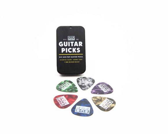 Sub Pop Guitar Pick 6-Pack  (4348260450368)