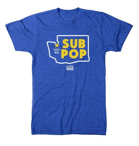 Sub Pop WA State Thick Lines Royal Blue T  (4480434012224)