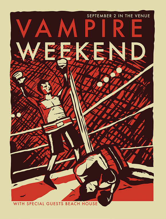 VAMPIRE WEEKEND Salt Lake City 2010 Gig Poster  (90575732750)