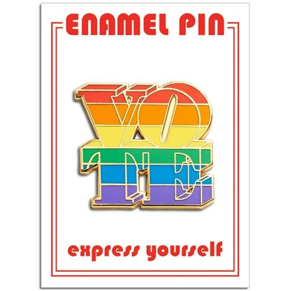 VOTE (Rainbow) Enamel Pin