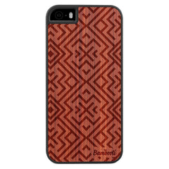 iPhone 5(s)/SE Wood Slim Case Padauk Aztec