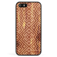 iPhone 5(s)/SE Wood Protective Case Cedar Aztec