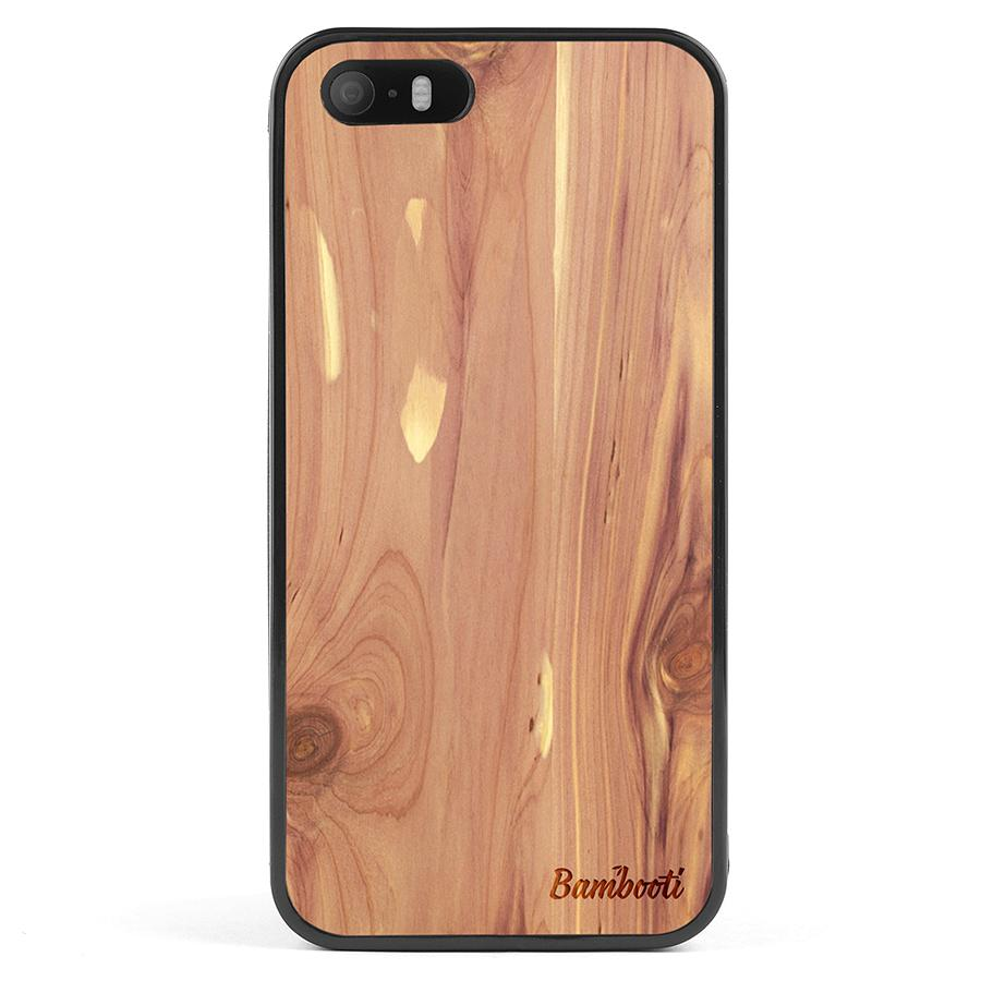 iPhone 5(s)/SE Wood Protective Case Cedar Regular