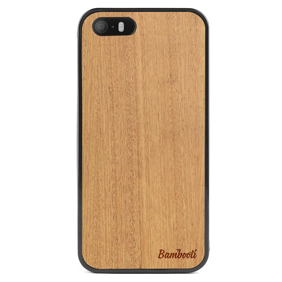 iPhone 5(s)/SE Wood Protective Case Mahogany Regular