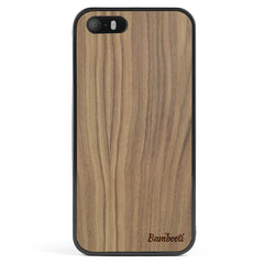 iPhone 5(s)/SE Wood Protective Case Walnut Regular