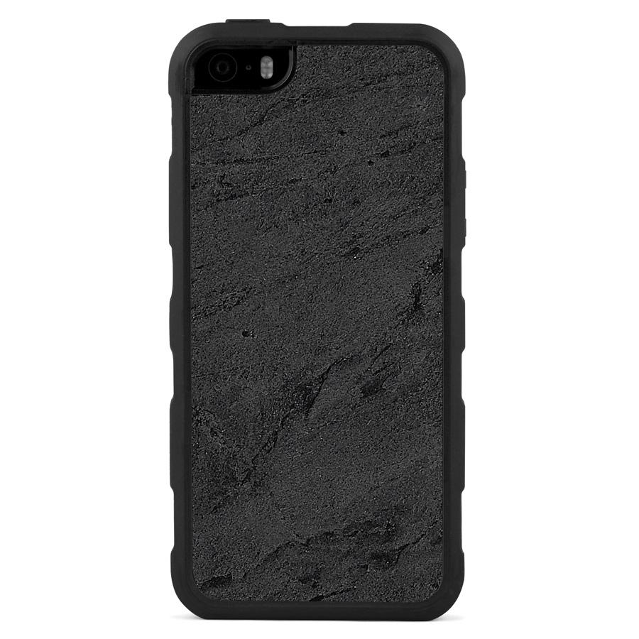 iPhone 5(s)/SE Stone Impact Case Black Stone