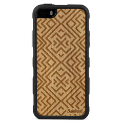 iPhone 5(s)/SE Wood Impact Case Cherry Aztec