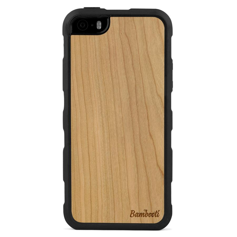 iPhone 5(s)/SE Wood Impact Case Cherry Regular
