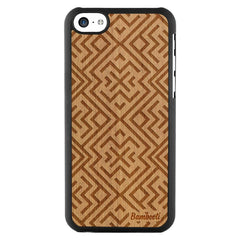 iPhone 5c Wood Slim Case Mahogany Aztec