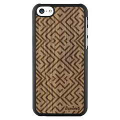 iPhone 5c Wood Slim Case Walnut Aztec